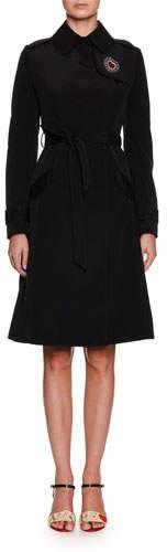 Dolce & Gabbana Belted Rain Coat w/ Leopard Lining