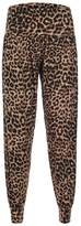 Forever Womens Leopard Tartan Print Viscose Harem Trousers