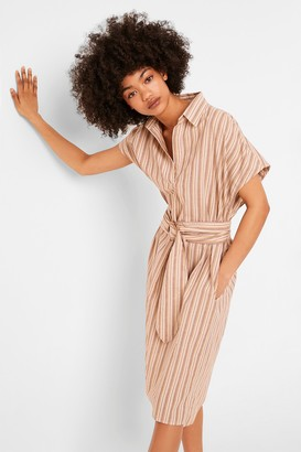 French Connenction Verve Stripe Belted Dress