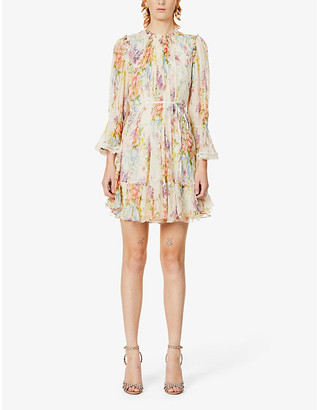 Needle And Thread Floral print crepe mini dress