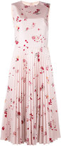 RED Valentino pleated floral dress - women - Polyester/Acetate - 40