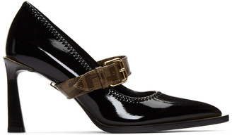 Fendi Black Glossy Mary Jane Heels