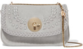 See by Chloe Lois Suede And Textured-leather Shoulder Bag - Sky blue