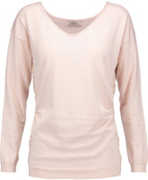 Nina Ricci Lace-trimmed cotton, silk and cashmere-blend sweater