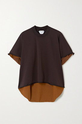 Bottega Veneta Two-tone Stretch-knit Top - Brown