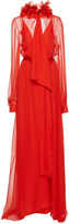 Lanvin Ruffled Collar Long Sleeve Gown