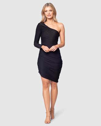 Pilgrim Women's Black Midi Dresses - Massima Midi Dress - Size One Size, 10 at The Iconic