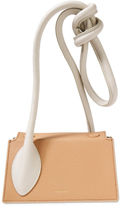 Yuzefi Tortilla Knotted Textured-leather Tote