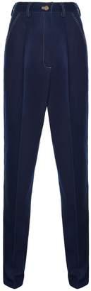 Diana Arno Bria Denim Trousers In Dark Blue