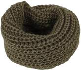 MOHSLEE Women's Infinity Scarf Solid Ribbed Knitted Scarves Soft Two Loops Warm