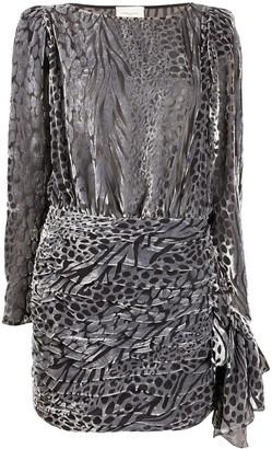 Giuseppe Di Morabito sheer leopard dress