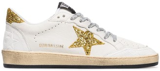 Golden Goose Ball star applique leather sneakers