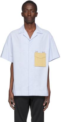 Palm Angels Blue Sacred Heart Short Sleeve Shirt