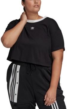 adidas Plus Size Cotton Cropped Top