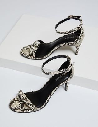 Lane Bryant Ankle Strap Heel - Snake Skin Print