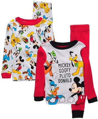 AME Disney Mickey Mouse, Donald Duck, Goofy, and Pluto Characters Print Pajama Set - Set of 2