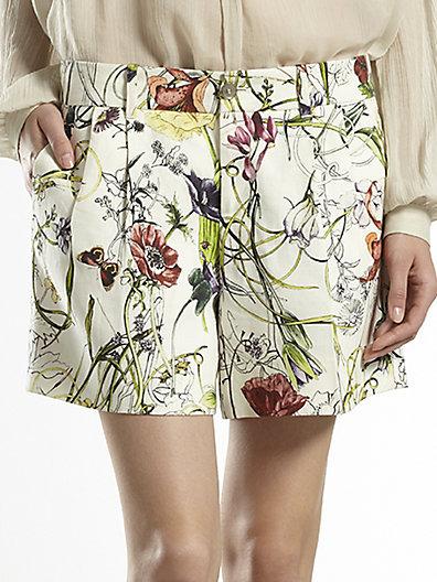 Gucci Flora Infinity Linen Shorts