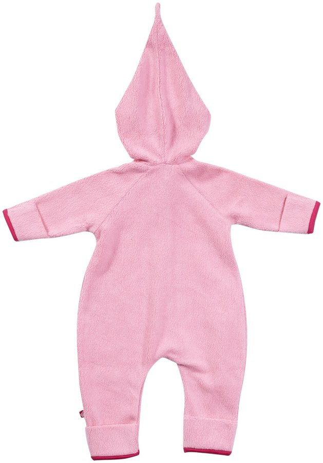 Zutano Cozie Fleece Elf Bodysuit - Hot Pink- 6 Months