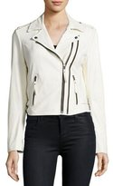 Joie Hayworth Leather Moto Jacket, White