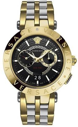 Versace Two-Tone V-Race Chronograph Bracelet Watch