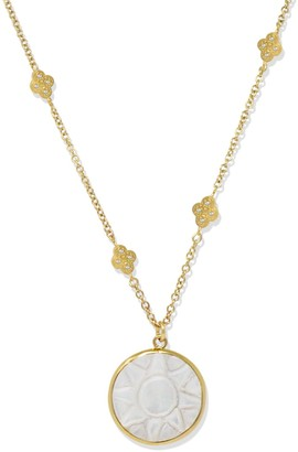 Mother of Pearl Vintouch Italy Le Soleil Gold-Plated Necklace