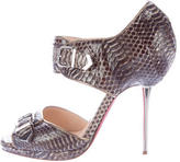 Christian Louboutin Buckle-Embellished Python Sandals