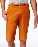 Sean John Men's Long Belted 12.5and#034; Stretch Shorts