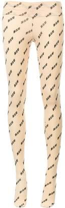 Ground Zero symbol embroidered stockings