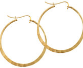 Gold Vermeil Hammered Hoops