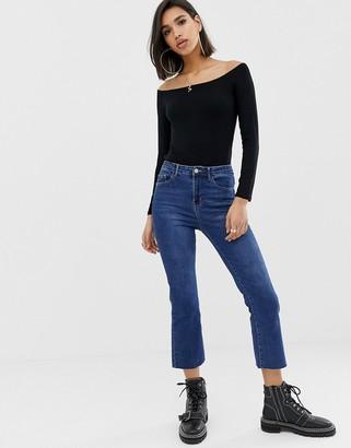 ASOS DESIGN ultimate off shoulder long sleeve top in black