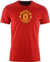 adidas Men's Manchester United Crest Performance T-Shirt