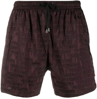 Missoni Logo Print Swim Shorts