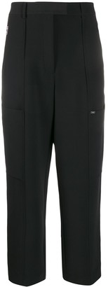 Calvin Klein Cropped Straight-Leg Trousers
