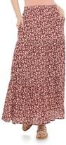 Juniors' Rewind Tiered Floral Print Maxi Skirt