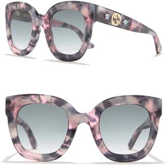Gucci 52mm Oversized Cateye Sunglasses