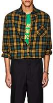 ADAPTATION Men's Checked Cotton-Wool Flannel Shirt