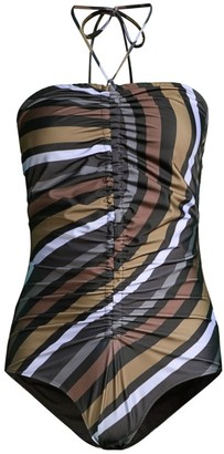 Ganni Recycled Printed One-Piece Swimsuit
