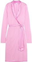 La Perla Windflower Satin-trimmed Modal-jersey Robe - Baby pink