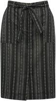 M&Co Striped linen blend skirt