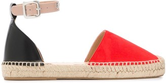 Mulberry two-tone espadrilles