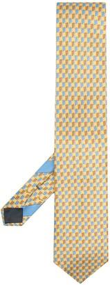 Ermenegildo Zegna Book-Print Silk Tie