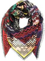 Missoni Digital Zig Zag Printed Modal & Linen Wrap