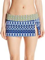 Bleu Rod Beattie Bleu | Rod Beattie Women's Road to Moroccan Skirted Hipster Bikini Bottom