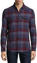 Original Penguin Plaid Flannel Shirt, Nightshadow Blue