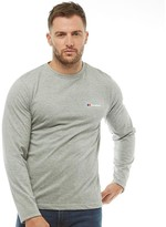 Berghaus Mens Blocks 4 Back Logo Long Sleeve T-Shirt Grey Marl