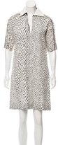 Bouchra Jarrar Short Sleeve Zip-Accented Dress