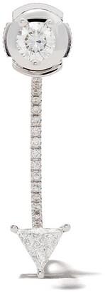 Delfina Delettrez 18kt white gold and diamond Dots earring