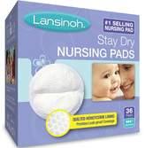 Lansinoh Stay Dry Nursing Pads Medium 36 Each