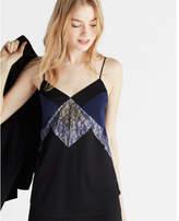 Express Color Block Lace Cami