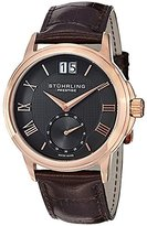 Stuhrling Original Men's Noble Gunmetal Dial Brown Leather